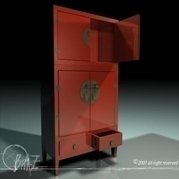 chinese closet 3d model 3ds dxf c4d obj 109183