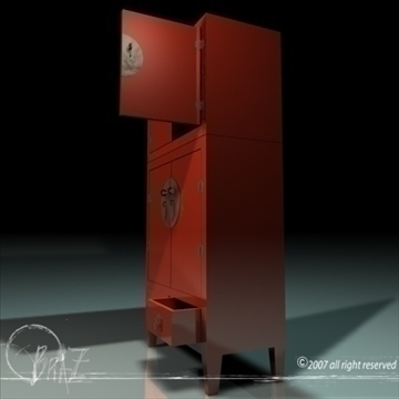 chinese closet 3d model 3ds dxf c4d obj 109185