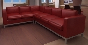 divan for hall 3d model lwo 82147