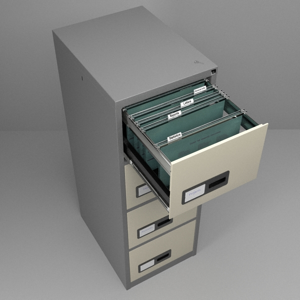 filing kabinet 3d model 3ds fbx skp obj 117769