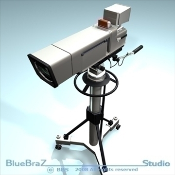 broadcast camera 3d model 3ds dxf c4d obj 89291