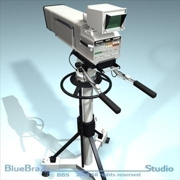 broadcast camera 3d model 3ds dxf c4d obj 89292