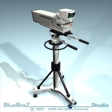 broadcast camera 3d model 3ds dxf c4d obj 89293