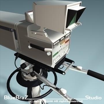 broadcast camera 3d model 3ds dxf c4d obj 89294
