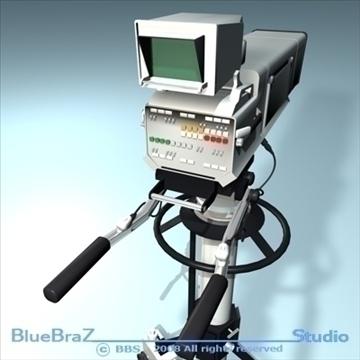 broadcast camera 3d model 3ds dxf c4d obj 89295