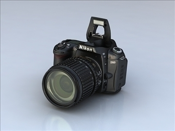 nikon d90 3d model 3ds max 105866