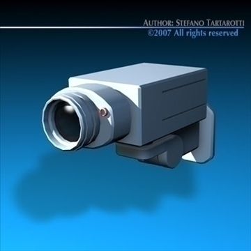 security camera 3d model 3ds dxf c4d obj 84993