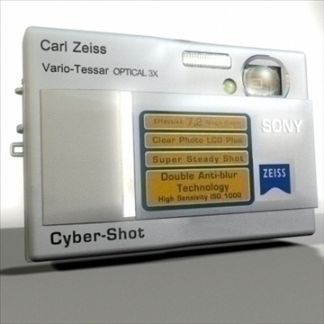 Sony cyber-shot 3d modelis max 80957