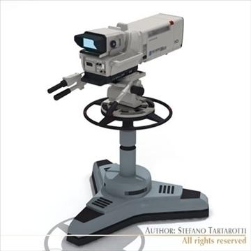 sony hdc 1000 tv studio camera 3d model 3ds dxf fbx c4d dae obj 105999