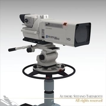 sony hdc 1000 tv studio camera 3d model 3ds dxf fbx c4d dae obj 106000