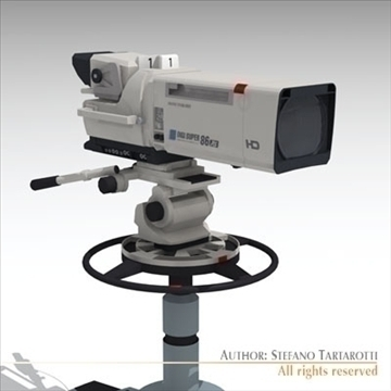 Sony hdc 1000 tv studijas kamera 3d modelis 3ds dxf fbx c4d dae obj 106000
