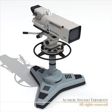 sony hdc 1000 tv studio camera 3d model 3ds dxf fbx c4d dae obj 106001