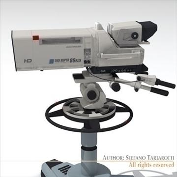 sony hdc 1000 tv studio camera 3d model 3ds dxf fbx c4d dae obj 106002