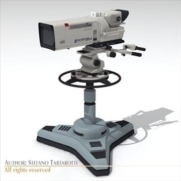 sony hdc 1000 tv studio camera 3d model 3ds dxf fbx c4d dae obj 106005