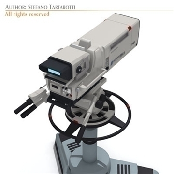 Sony hdc 1000 tv studijas kamera 3d modelis 3ds dxf fbx c4d dae obj 106006