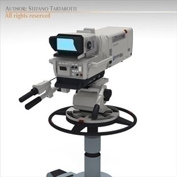 sony hdc 1000 tv studio camera 3d model 3ds dxf fbx c4d dae obj 106007