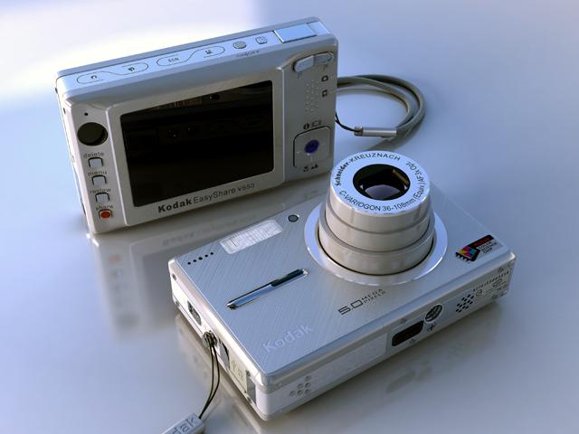 kodak easyshare v550 3d model max 124699