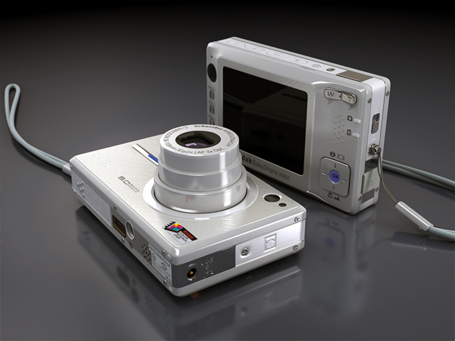kodak easyshare v550 3d model max 124701