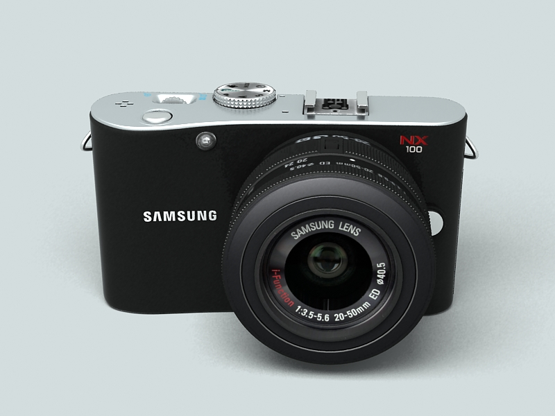 samsung nx100 camera 3d model 3ds max fbx obj 143447
