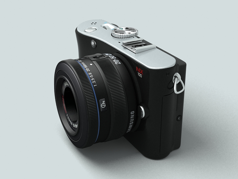 samsung nx100 camera 3d model 3ds max fbx obj 143448