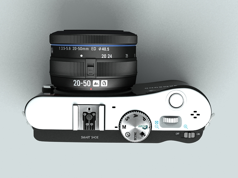 samsung nx100 camera 3d model 3ds max fbx obj 143451