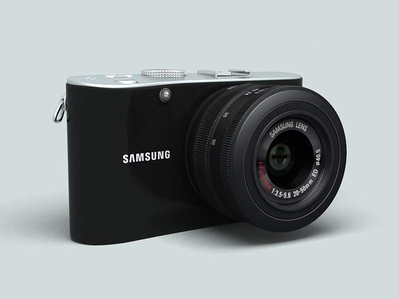 samsung nx100 camera 3d model 3ds max fbx obj 143452