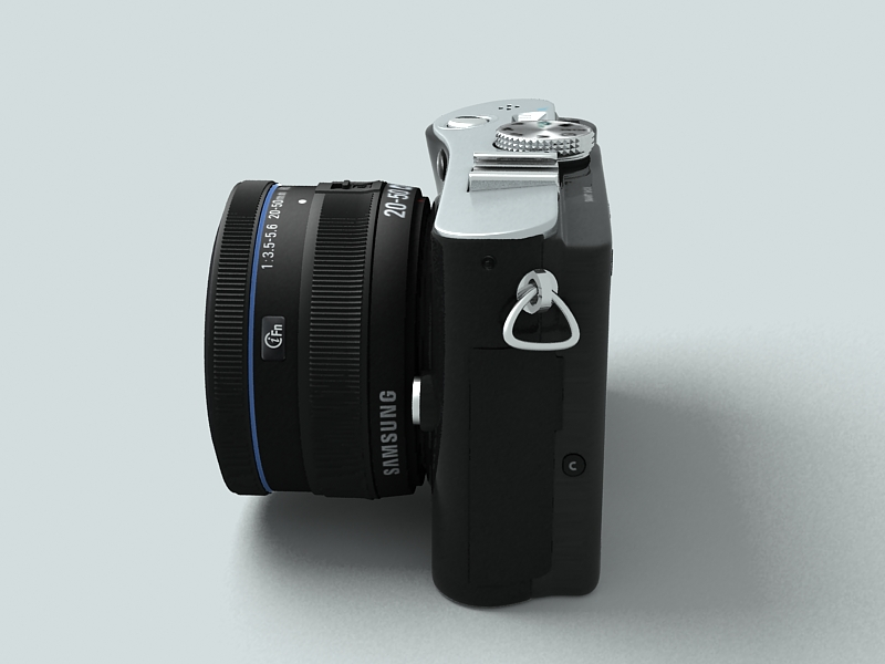 samsung nx100 camera 3d model 3ds max fbx obj 143453
