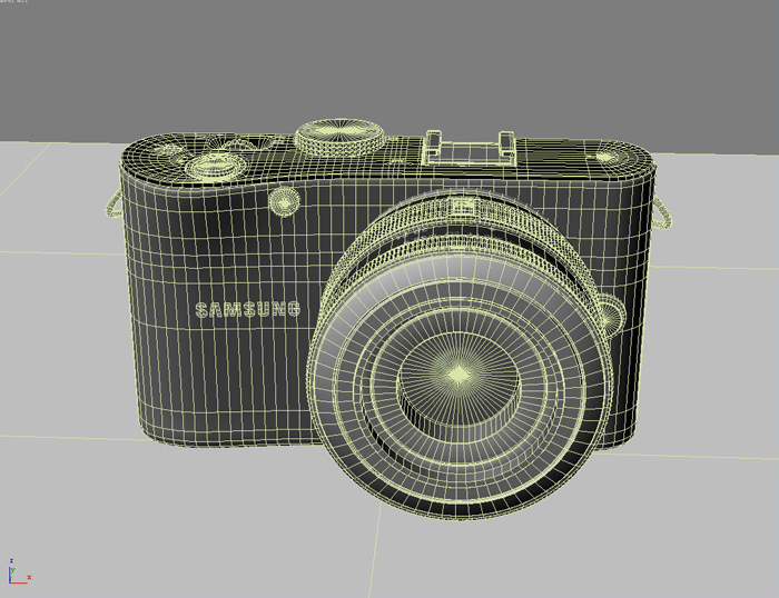 samsung nx100 camera 3d model 3ds max fbx obj 143454