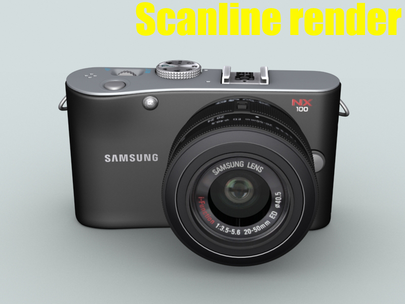 samsung nx100 camera 3d model 3ds max fbx obj 143456