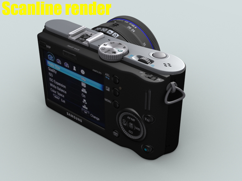 samsung nx100 camera 3d model 3ds max fbx obj 143457