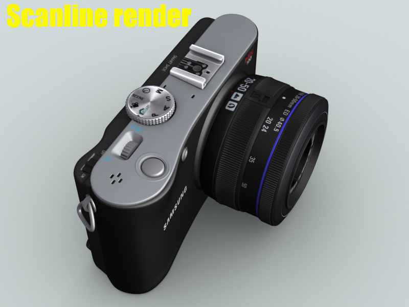 samsung nx100 camera 3d model 3ds max fbx obj 143458