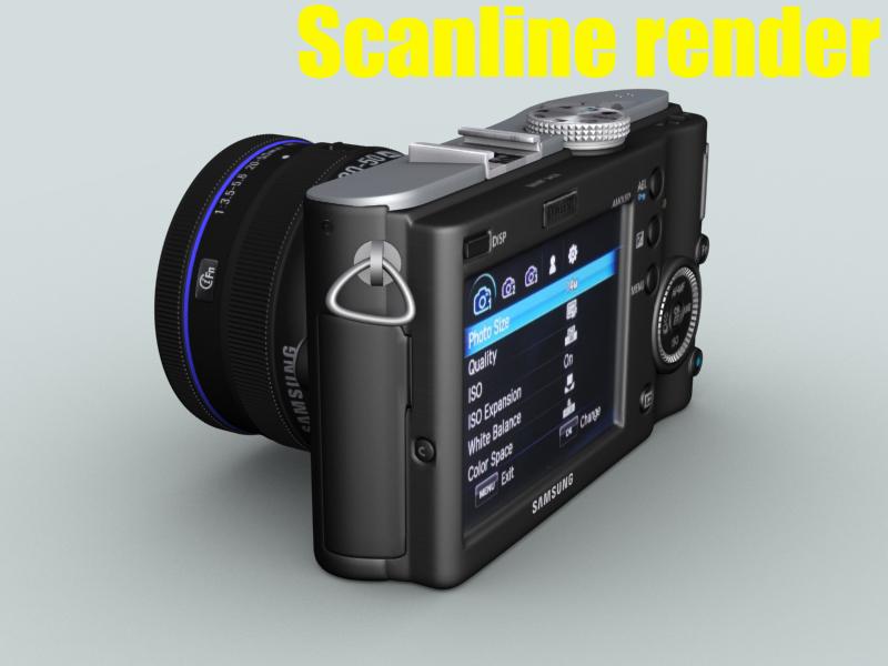 samsung nx100 camera 3d model 3ds max fbx obj 143459