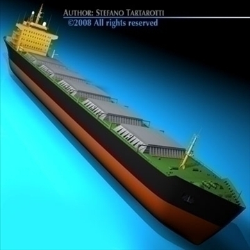 cargo ship 3d model 3ds dxf c4d obj 91876
