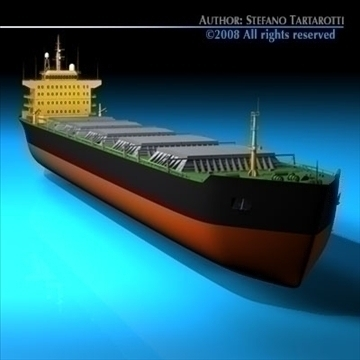 cargo ship 3d model 3ds dxf c4d obj 91877