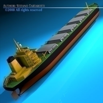 cargo ship 3d model 3ds dxf c4d obj 91878