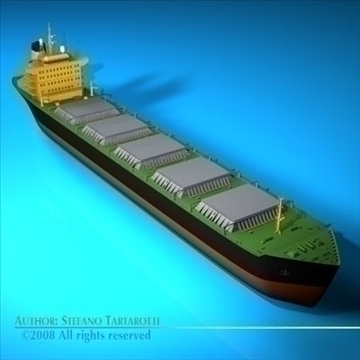 cargo ship 3d model 3ds dxf c4d obj 91880