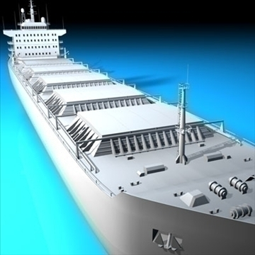 cargo ship 3d model 3ds dxf c4d obj 91881