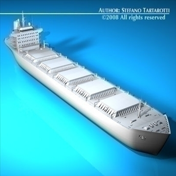 cargo ship 3d model 3ds dxf c4d obj 91882