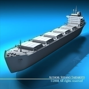 cargo ship 3d model 3ds dxf c4d obj 91883