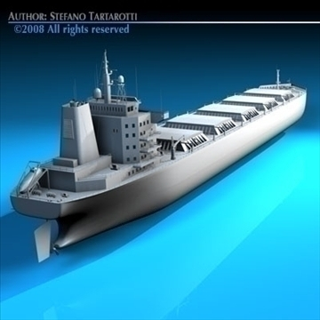 cargo ship 3d model 3ds dxf c4d obj 91885