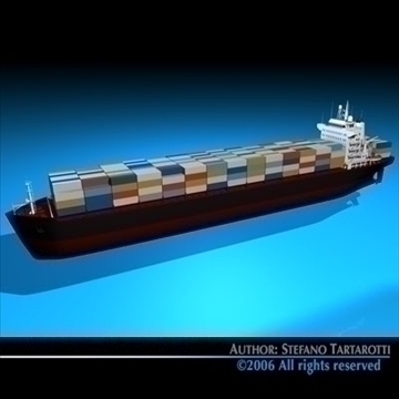 container ship 3d model 3ds dxf c4d obj 84733