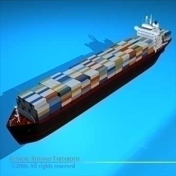 container ship 3d model 3ds dxf c4d obj 84734