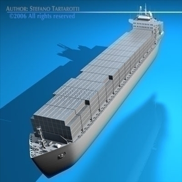 container ship 3d model 3ds dxf c4d obj 84735
