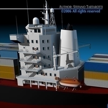 container ship 3d model 3ds dxf c4d obj 84739