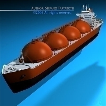 gas ship 3d model 3ds dxf c4d obj 84854