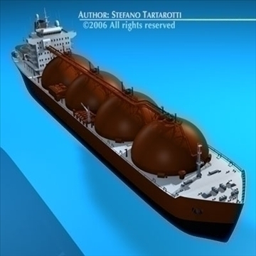 gas ship 3d model 3ds dxf c4d obj 84855