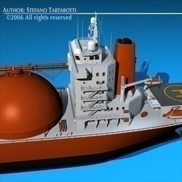 gas ship 3d model 3ds dxf c4d obj 84856