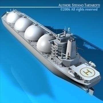 gas ship 3d model 3ds dxf c4d obj 84861