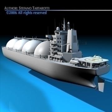 gas ship 3d model 3ds dxf c4d obj 84862