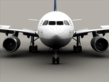 airbus a310 lufthansa 3d model 3ds max obj 94840
